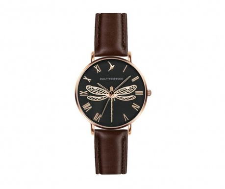 Emily Westwood Dragonfly Brown Leather Női karóra