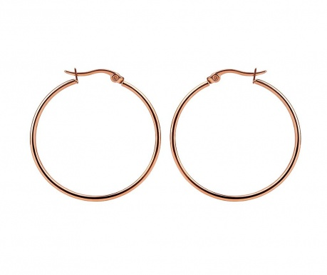 Hoops Rose Gold Fülbevaló