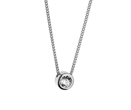 Αλυσίδα με παντατίφ Bright Crystal Silver