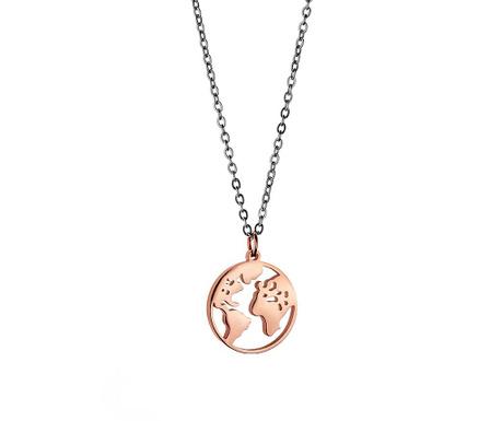 Αλυσίδα με παντατίφ Globe Rose Gold Silver