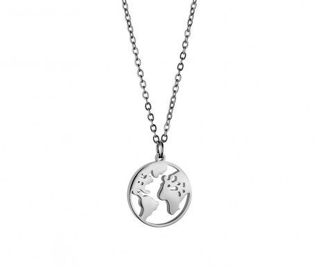 Łańcuszek z zawieszką Globe Silver