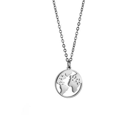 Lantisor cu pandantiv Globe Silver