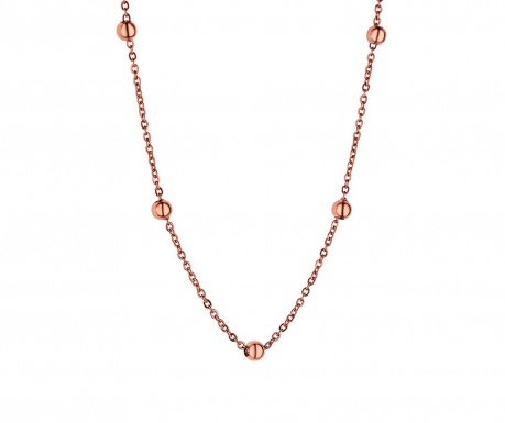 Chain Bubbled Rose Gold Nyaklánc