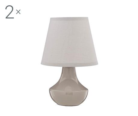 Комплект 2 нощни лампи Cera Bella Grey