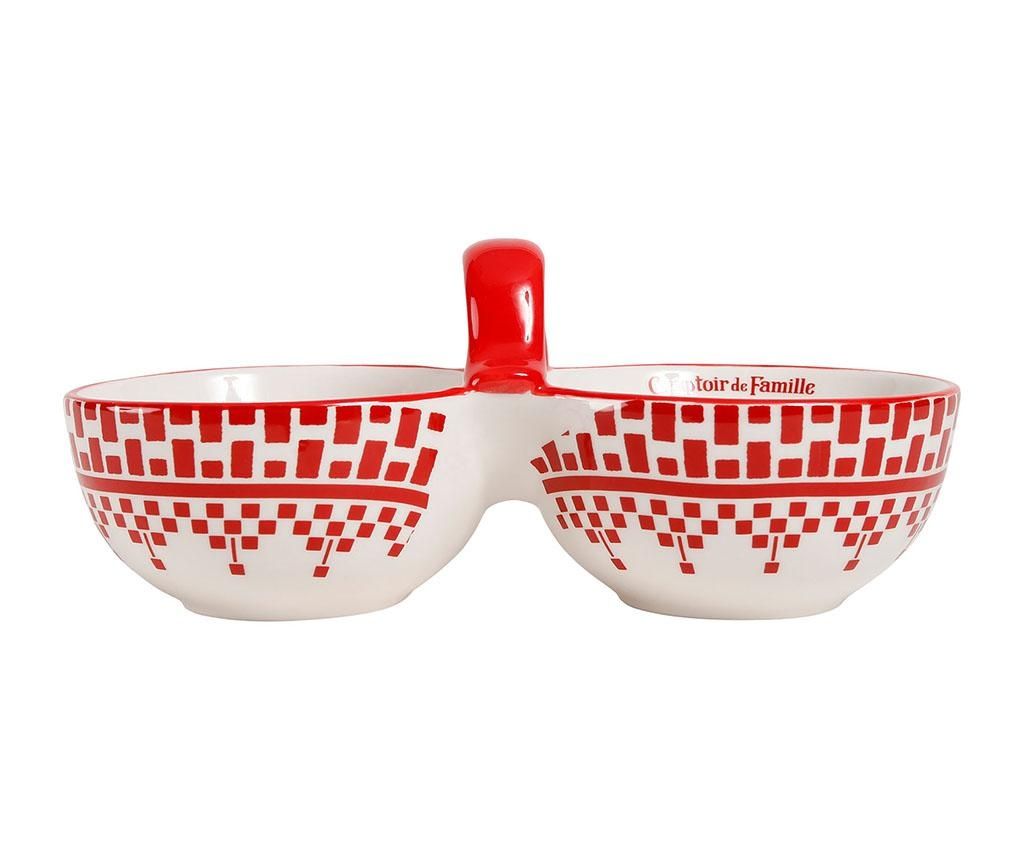 Zdjela za predjela Carreau Red