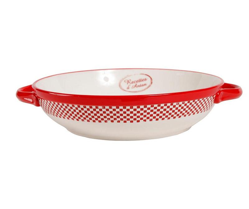 Carreau Red Round Sütőedény