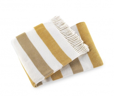 Pled Sweet Stripe Gold 140x180 cm