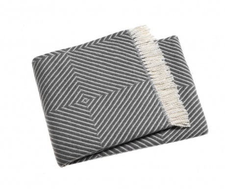 Tebas Mid Grey Pléd 140x180 cm