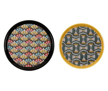 Комплект 2 подноса за сервиране African Vibes Multicolor