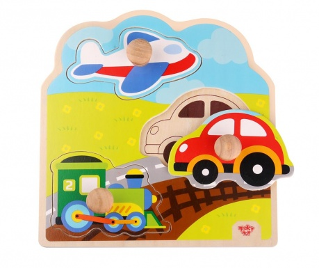 Joc tip puzzle 3 piese Chunky Puzzle  Transportation