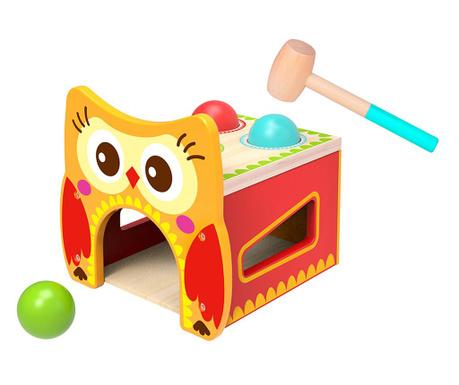 Igračka spretnosti s čekićem 11 dijelova Owl Pound