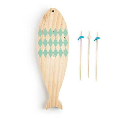 Set 15 štapića za predjela i držač Ocean Fish