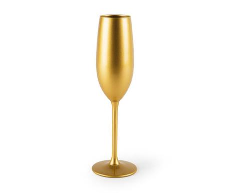 Sklenice na šampaňské Gold 210 ml