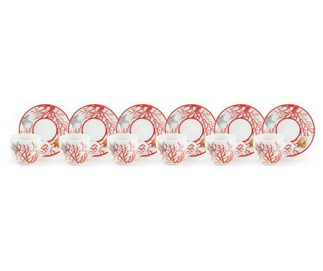Set 6 šalica i 6 tanjurića Coral