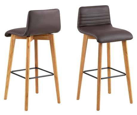 Set 2 barske stolice Arosa Leather