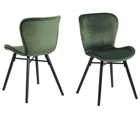 Set 2 scaune Batilda Velvet Green