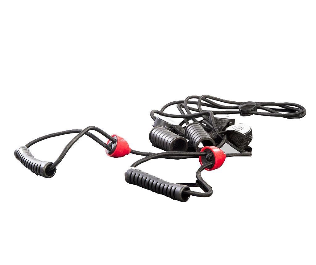 Banda elastica pentru exercitii Gliss Black and Red
