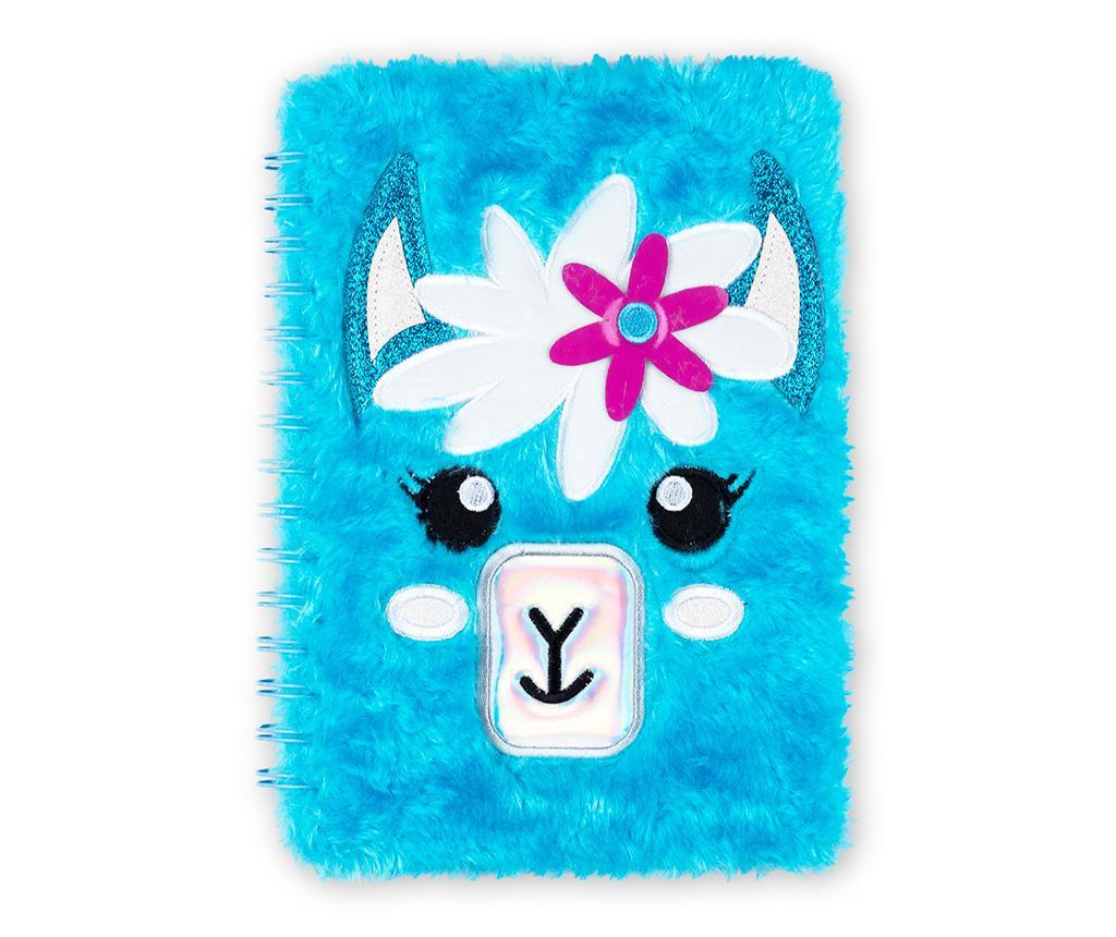 Cute Fuffy Lama Spirálos napló