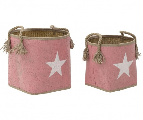 Set 2 cosuri White Star on Pink