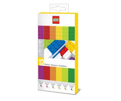 Set 12 raznobojnih markera Lego Rainbow