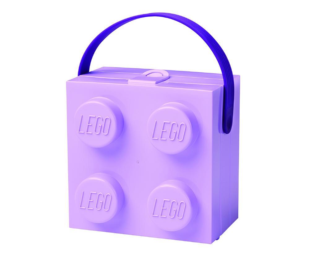 Lego Handle Lavender Uzsonnás doboz