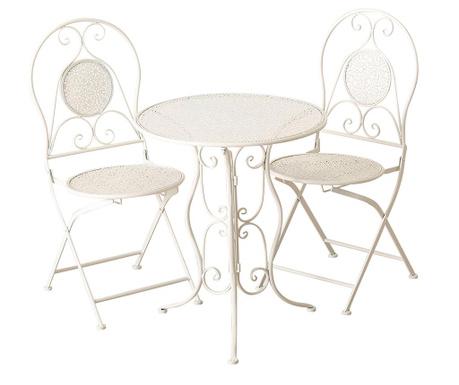 Sada venkovní stůl a 2 židle Lilli