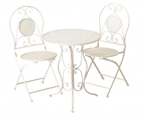 Set - vrtna miza in 2 stola Lilli