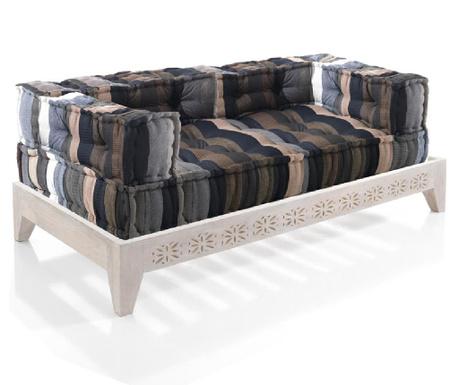 Set 2   jastuka za sjedenje i   postolje za kauč Yantra Stripes White