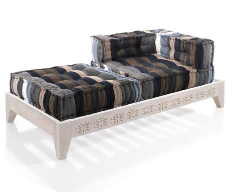 Sada sedací puf, podlahový polštář a základna pro pohovku Yantra Stripes