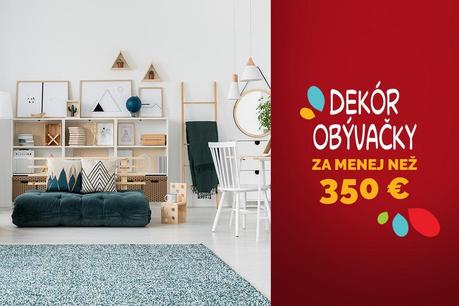Redekorovanie obývačky za menej než 350 €