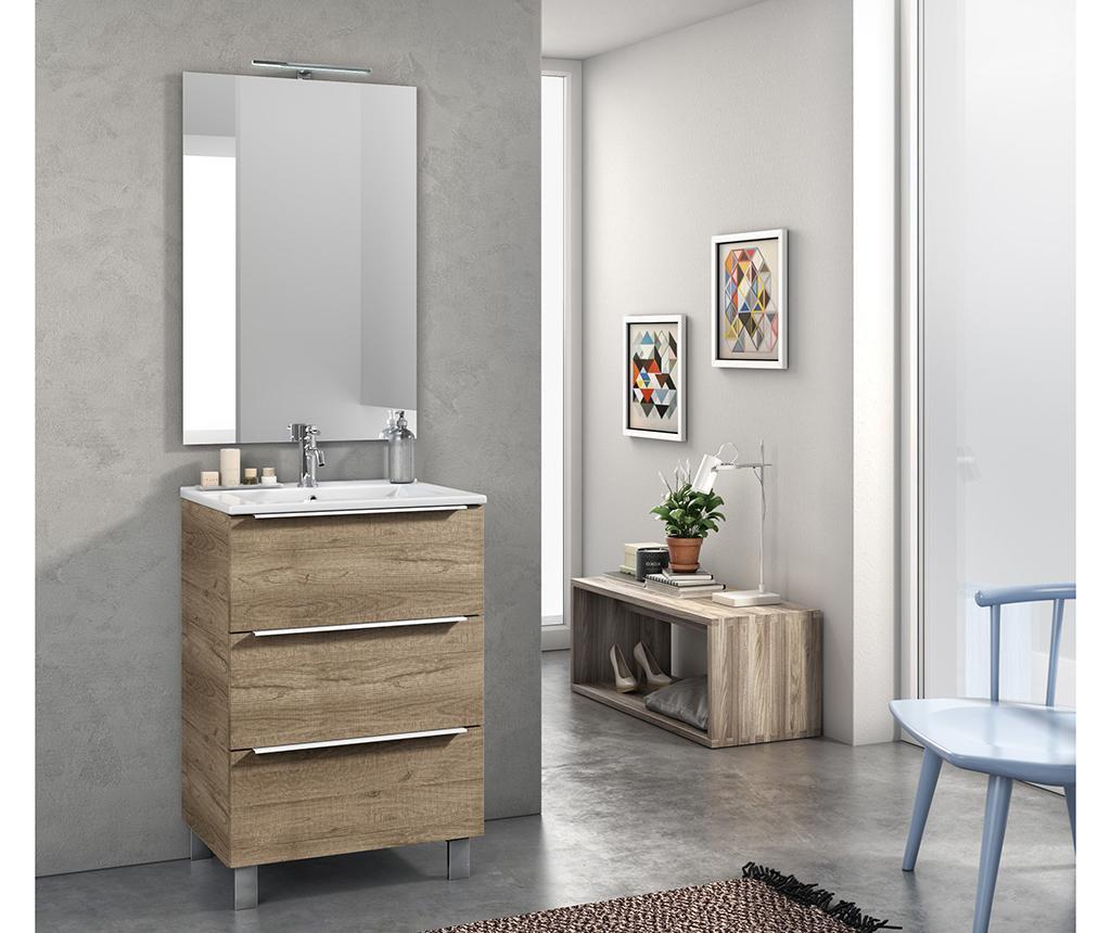 Malmo Brown 4 darabos Fürdőszobai bútor szett