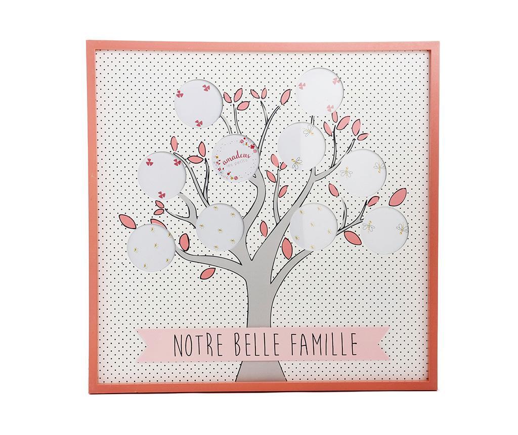 Belle Famille Dots Pink Fényképtartó 10 fényképnek