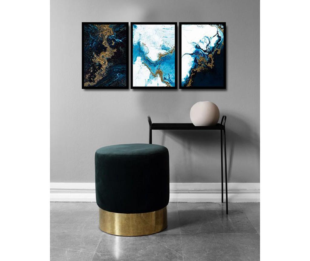 Set 3 slike Magical Marble 36x51 cm