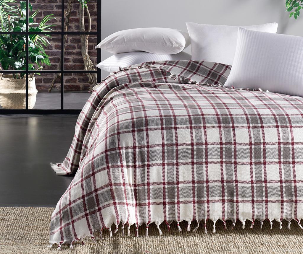 Iskoc Cream Claret Red Pique ágytakaró 200x240 cm