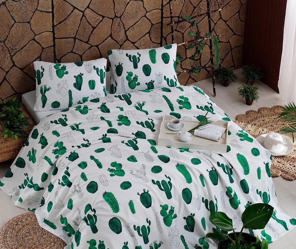 Posteljina Double Pique Kaktus Green 200x235