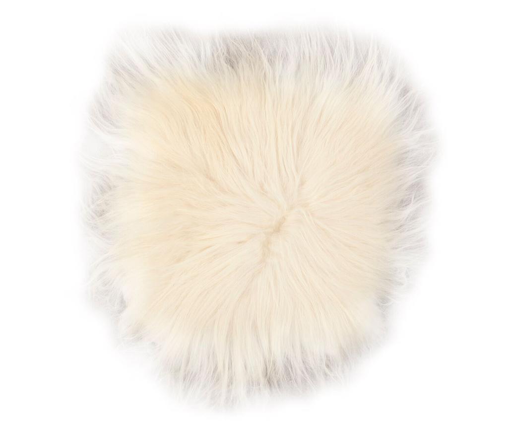 Възглавница за сядане Lambskin Natural White 37x37 см