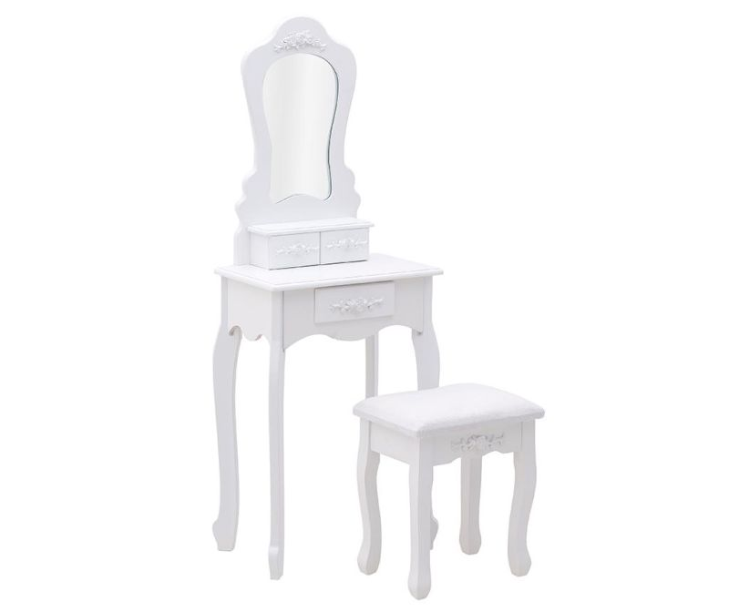 Set toaletna mizica in pručka Rose White