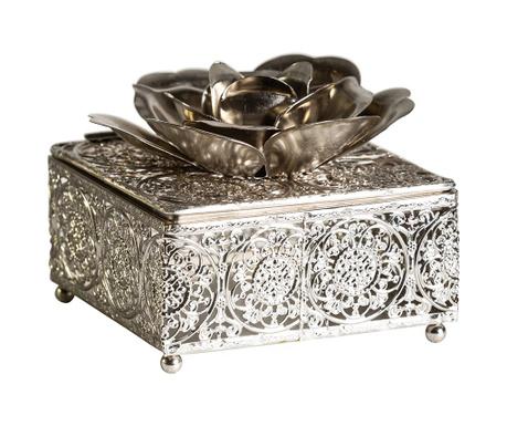 Διακοσμητικό κουτί με καπάκι Flowers Square