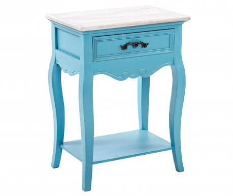 Stolik z 1 szufladą Nimola One Blue