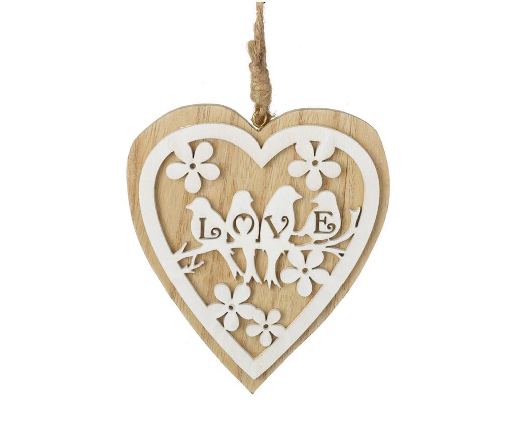 Závesná dekorácia Wooden Heart