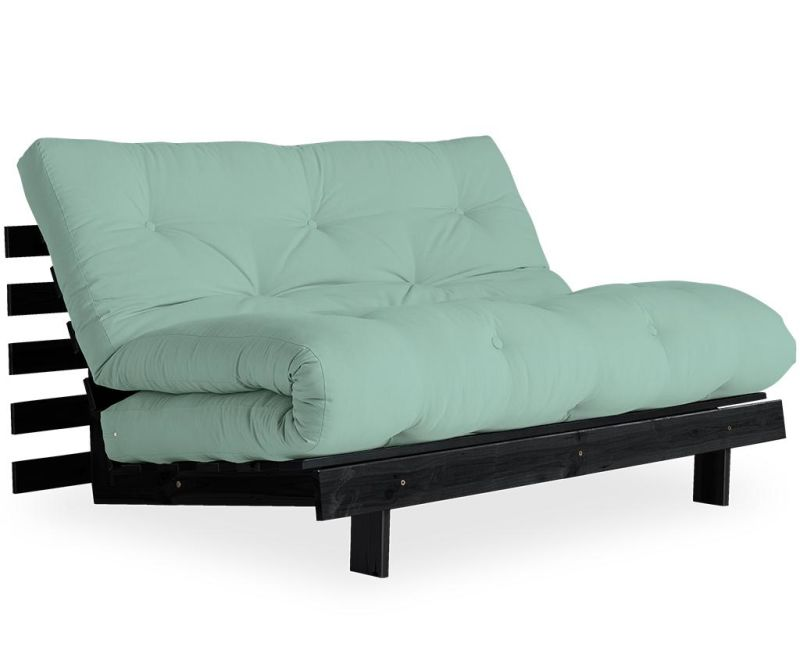 Sofa extensibila Roots Black & Mint 140x200 cm