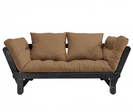 Sofa extensibila Beat Black & Mocca