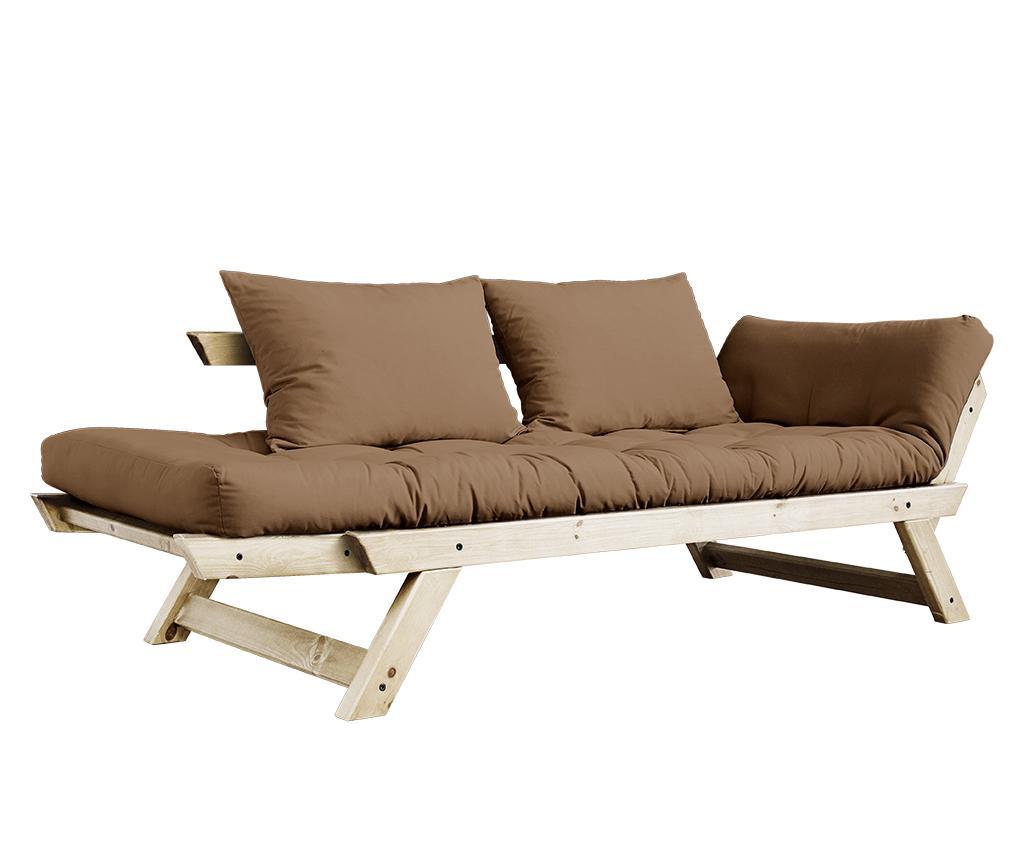 Sofa extensibila Bebop Natural & Mocca