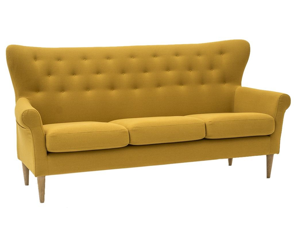 Canapea 3 locuri Amelie Cotone Yellow