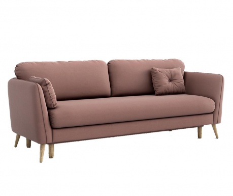 Clara Melva Pink Háromszemélyes kihúzható kanapé