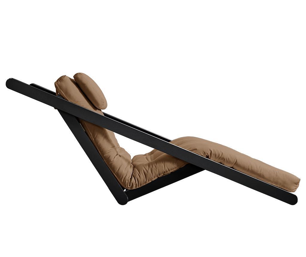 Figo Black & Mocca Kihúzható nappali heverő 70x200 cm