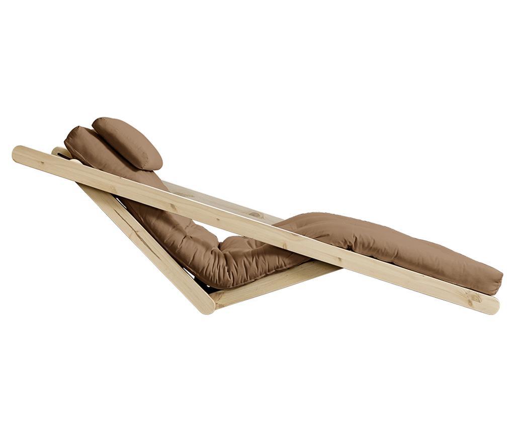 Raztegljiv počivalnik za dnevno sobo Figo Natural & Mocca 120x200 cm