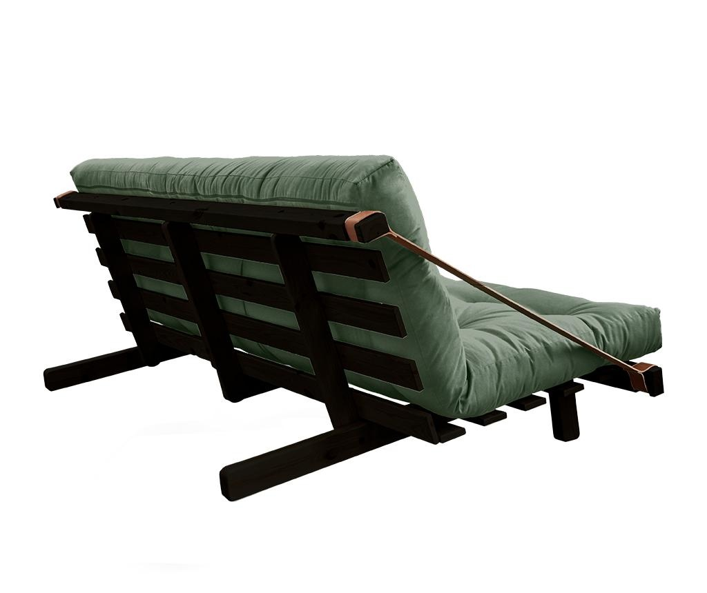 Kauč na razvlačenje Jump Black & Olive Green 130x190 cm