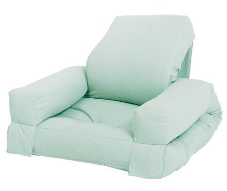 Dječja fotelja na razvlačenje Mini Hippo Peppermint 65x140 cm