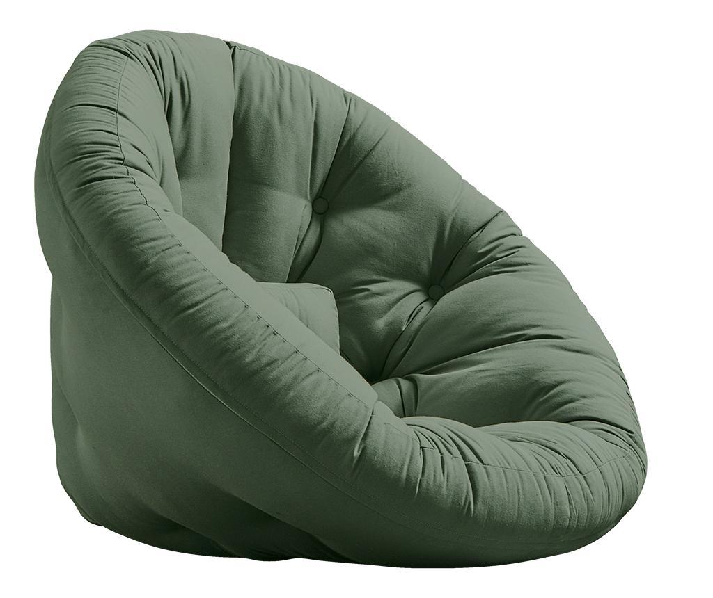 Futon Olive Green Fészek 110x220 cm